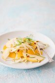 Fennel salad with apple and orange segments
