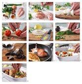 Hähnchenbrust mit Gemüse und Trockenpflaumen zubereiten