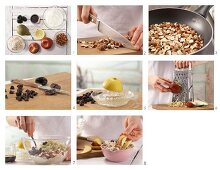 How to prepare Bircher muesli with peach slices