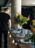 Gedeckter Tisch im Restaurant Automata (Sydney, Australien)