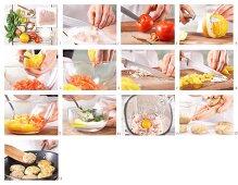 How to prepare fishcakes with orange and tomato salsa