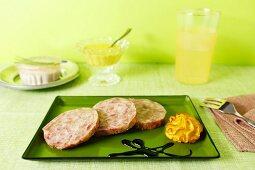 Cotechino with balsamic cream and mustard