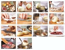 How to prepare onions stuffed with chicken liver