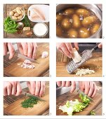 How to prepare smoked fillets of trout with boiled potatoes and horseradish yoghurt