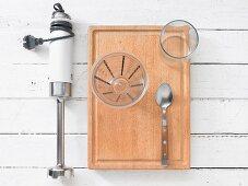 Küchenutensilien für Smoothiezubereitung
