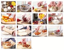 How to prepare a pizza with beetroot and pumpkin