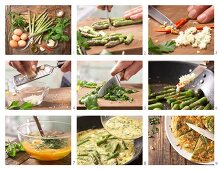 How to prepare asparagus omelette with basil and Parmesan
