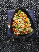 Israeli quinoa salad with sweet potatoes