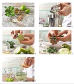 How to prepare a lime cocktail with ginger and mint