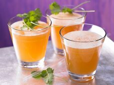 Apricot and ginger spritzer with coriander