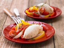Quark dumplings with peppers