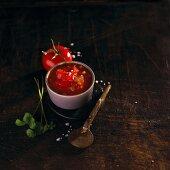 Tomato salsa with coriander (Mexico)