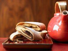 Wholegrain quark pastry with plum jam