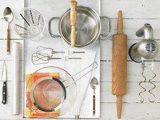 Kitchen utensils for making a quark pastry