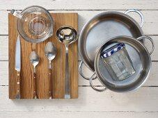 Kitchen utensils for preparing pickled vegetables