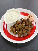 Greek Meatballs with Yogurt Dip