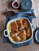 Oven-baked cordon bleu with Appenzeller cheese