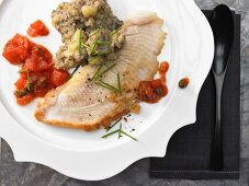 Ray fish with a caper sauce