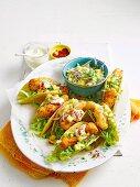Crispy coconut fish tacos with pineapple salsa