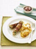 Chicken, Feta and Prosciutto Sausages