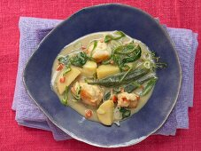 Callaloo (Classic Creole stew with okra, lobster and spinach)
