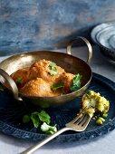 Vegan vegetable kofta in curry sauce (Asia)