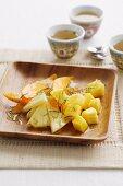 Tropical fruit Salad with Lemongrass Syrup