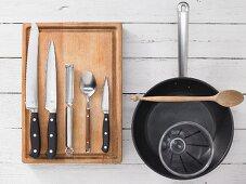Kitchen utensils for making crostinis
