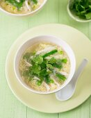 Creamy Asparagus and Chicken Soup