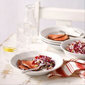 Glazed Roast Beef and Confetti Salad