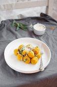 Pumpkin gnocchi with sage, butter and parmesan