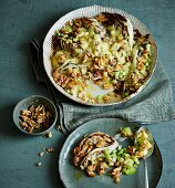 Cinnamon vegetable bake with raclette cheese and walnuts (low carb)