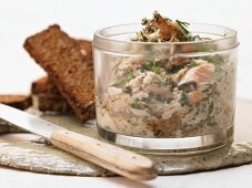 Trout cream with coarse mustard and parsley