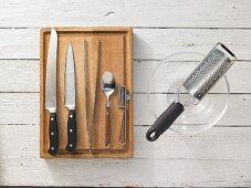 Kitchen utensils for making a fish cream