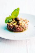 Calf tartare with capers and basil