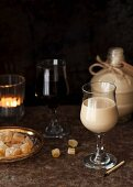 Homemade gingerbread liqueur