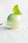 Basil and lime sorbet