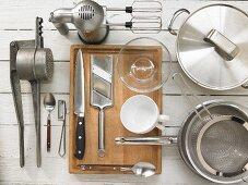 Kitchen utensils for the preparation of potato soufflées