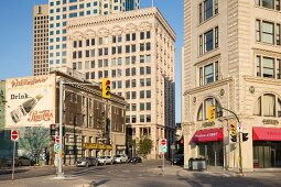 The Exchange District in Winnipeg, Province of Manitoba, Canada