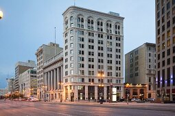 The Exchange District on Main Street, Winnipeg in the province of Manitoba, Canada