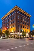The Exchange District and the building on Old Market Place in Winnipeg in the province of Manitoba, Canada