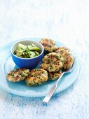 Thai Fish Cakes with cucumber salad