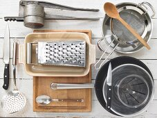 Kitchen utensils for making cheese spaetzle noodles