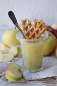 Apple sauce with a waffle