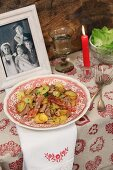 'Tiroler Gröstl' (Tyrolean roast meat with potatoes and bacon)