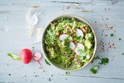 Vegan radish guacamole (soya-free)