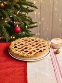 Orange And Cranberry Lattice Pie