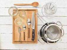 Kitchen utensils for making vegetable head-cheese with remoulade