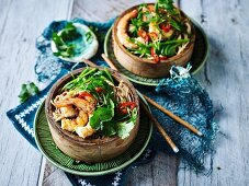 Soba Noodle Salad with Fried Prawns