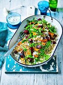 Roast Pumpkin and beetroot salad